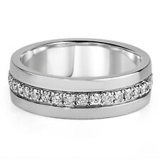 2.00 Ct Round Diamond Engagement Wedding Men's Ring Band 14k White Gold Finish