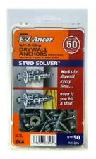 Stud Solver Self-Drilling Drywall Anchors, 50 Lb, 50-Pack