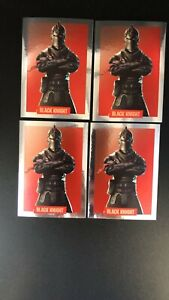4X 2019 fortnite ready to jump BLACK KNIGHT album stickers