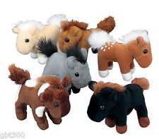24 Plush Horses Lot Pony Party Favor Stuffed Animals Farm Western Cowboy Cowgirl