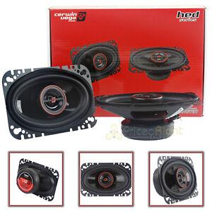 "Cerwin Vega H746 4x6"" 2-Way Coaxial Speakers 1"" Polypropylene Dome Tweeter Pair"