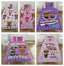 NEW LOL SURPRISE Doll Polycotton Single & Double Duvet Cover Kids Girls Bed Sets
