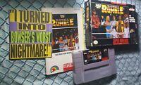 WWF Royal Rumble (SNES) Super Nintendo CIB Almost Complete Box 1993 RARE