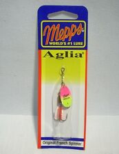 Mepps Aglia Hot Pink Chartreuse Original French Spinner 1/8 Fishing Lure