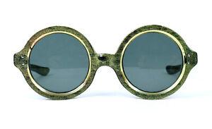Crazy 50s Sunglasses Vintage France Paris Made 1950s Round Candy Frame Frog Eye