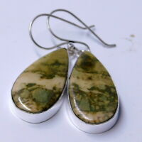 American Picture Jasper 925 Sterling Silver Plated Handmade Jewelry Earring 8 Gm