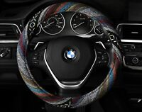 Steering Wheel Cover Baja Inca Saddle Blanket Colorful Stripes Indian Anti-Slip