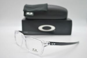 NEW OAKLEY OX8164-0253 PORT BOW POL CLEAR AUTHENTIC EYEGLASSES FRAME RX 53-17