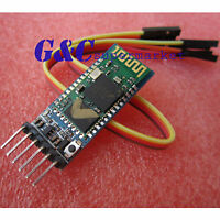 SWireless Serial 6 Pin Bluetooth RF Transceiver Module HC05 RS232+ Cable M42