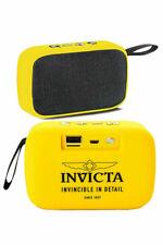 Invicta Portable Bluetooth Wireless Speaker With FM Radio,Yellow 31494