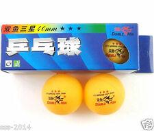 40 Boxes (120 Pcs) Double Fish 3 Stars 40MM Olympic Games Orange Ping Pong Balls