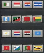39014) UNITED NATIONS (NY) 1989 MNH** Flags 16v