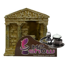 Hydor H2Show Greek Temple Kit with Multicoloured LED and an Ario bubble maker