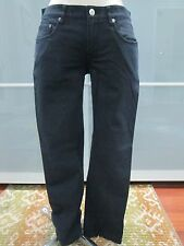 Helmut Lang Black Denim Boot Cut Jeans Twill Stretch Pants Size 4