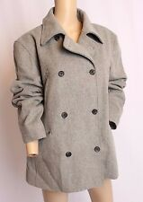 J Crew Gray Double Breasted Wool Cashmere Thinsulate Pea Coat Jacket L