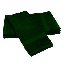 6 NEW GREEN SALON GYM SPA TOWELS RINGSPUN HAND TOWELS 16X27 3# EMBROIDER BLANK