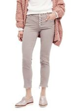 FREE PEOPLE Reagan Crop Skinny Jeans Aluminum Grey Size 28 Corduroy - $78 - NWT