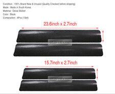 Carbon Fiber Car Scuff Plate Door Sill 4D Sticker Panel ProtectorAccessories  4x