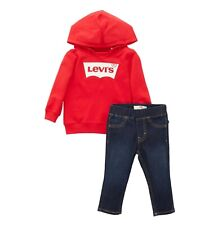 2 Piece Boys Levi's Jersey Hoodie And Jeans Set Sizes Age from 3 to 24 Mnth