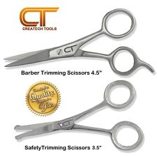 Barber Hair Cutting, Mustache, Beard, Safety Trimming Scissors, Extremely Sharp