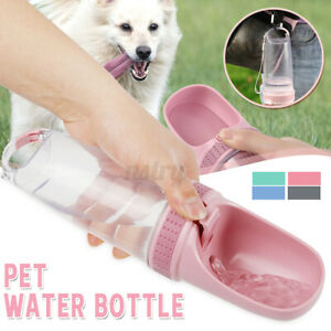 Portable Dog Cat Pet Water Drinking Bottle Cup Feeder Puppy Outdoor Travel Drink