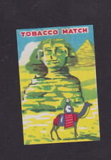 Old Matchbox  label Japan BN49117 Sphinx Camel Pyramid