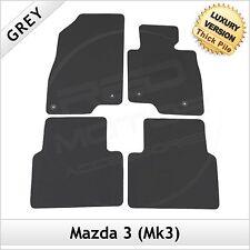 MAZDA 3 mk3 2013 in Poi Completamente Su Misura Auto Di Lusso 1300g Tappeti Tappetini Grigio