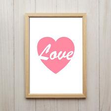 Kunstdruck DIN A4 Liebe Herz Love Wand Deko Bild Verlobung Ehe Hochzeit Geschenk