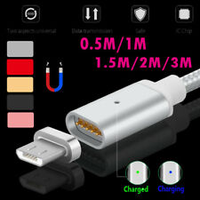 0.5M-3M 2.4A Magnetic LED Micro USB Fast Charger Cable Line for Samsung Android