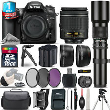 Nikon D7200 DSLR Camera + 18-55mm VR + 500mm Lens + Extra Battery + 1yr Warranty