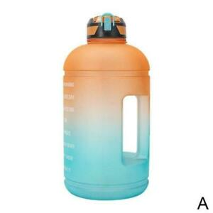 Gallon Big Drink Water Bottle Jug Gourd For Travel Fitness Sports NEW U1H8