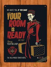 """""""Tower Of Terror Your Room Is Ready"""" Disney Art Ride Movie Poster Tin Sign"""