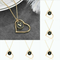 Initial Letter Pendant Alphabet HEART A - Z Personalised GIFT Necklace