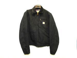 Vtg Carhartt Size 40 Black Duck Detroit Jacket Blanket Lined USA Made Coat J01