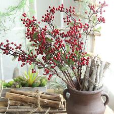 Rote Beeren In Deko Blumen Kunstliche Pflanzen Gunstig Kaufen Ebay