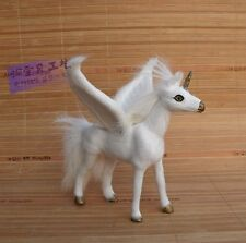 simulation Unicorn toy resin&fur wings Pegasus horse doll gift about 14x12x15cm