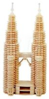 3D Puzzle di Legno TORRI GEMELLE  Woodcraft Construction Kit-TWIN TOWERS Toys