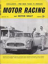 February 1960 Motor Racing & Motor Rally Magazine Free Shipping In The Usa