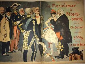 PROSTITUTION -ÉROTISME. REVUE CARICATURES 1902.De Montélimar À Pétersbourg.
