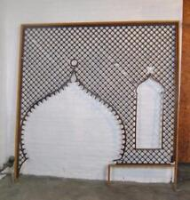 "Victorian Large Entryway Cherry Ball & Stick Fretwork 95"" x 98"""
