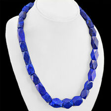 Buyers Favourite 765.60 Cts Natural Blue Lapis Lazuli Untreated Beads Necklace