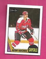 1987-88 OPC # 68 CAPITALS KEVIN HATCHER NRMT ROOKIE CARD (INV# C9693)