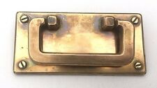 "Brass Trunk Lifts Antique Hardware Arts & Crafts Mission drawer pull 4"" centers"