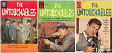 The Untouchables TV #1 2 & 3 Four Color #1237, 1286 & 01-879-207 Nice Set! Scans