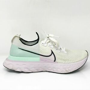 Nike Womens React Infinity Run Flyknit CD4372-100 White Running Shoes Size 8.5