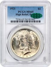 1921 Peace $1 PCGS/CAC MS65 - Scarce First Year Issue - Peace Silver Dollar