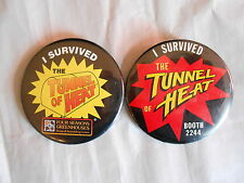 2 Vintage Four Seasons Greenhouses I Survived the Tunnel of Heat Pinback Buttons