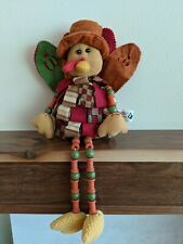"Joann Thanksgiving Turkey Decoration Fabric Beads 18"" Long"