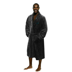 NEW NFL Football Carolina Panthers L/XL Bathrobe Lounge Sleep Robe