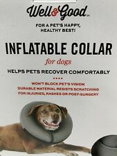 Well & Good INFLATABLE COLLAR for DOGS sizes MEDIUM or XXL/XXXL avail NEW in Box